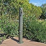 """CLGarden Fontana punto d'acqua a colonna per irrigazione Giardino WZS4 altezza circa 90cm, Design Tronco d'Albero incluso rubinetto 3/4 """" uso esterno per connessione tubo d'irrigazione"""