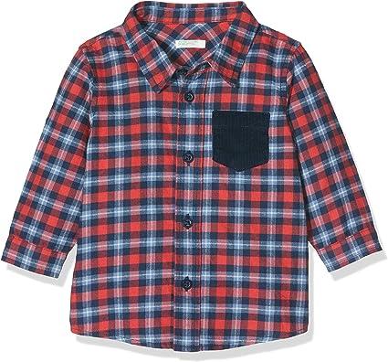 United Colors of Benetton Mountain BB B4 Camisa, Multicolor (Quadri BLU/Rosso 930), 74/80 (Talla del Fabricante: 74) para Bebés: Amazon.es: Ropa y accesorios