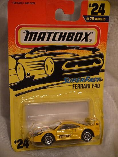 Matchbox Superfast Ferrari F40 24 Of 75 Vehicles By Matchbox Amazon De Spielzeug