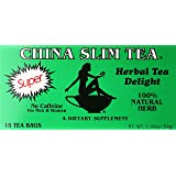 China Slim Tea Super Slim Dieter's Delight All Natural 18 Tea Bags