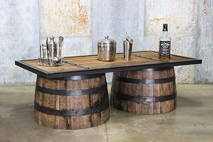 Fantastic Amazon Com Repurposed Up Cycled Whiskey Barrel Coffee Table Download Free Architecture Designs Scobabritishbridgeorg