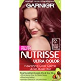 Garnier Nutrisse Ultra Color Nourishing Hair Color Creme, R2 Medium Intense Auburn (Packaging May Vary)