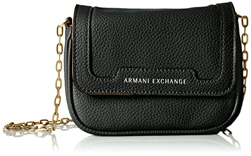 9bc4be9183 Armani Exchange Pebbled Women's Black Camel Tan Faux Leather ...