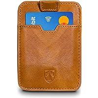 TRAVANDO ® Tarjetera con Seguridad RFID, PROTECCIÓN hasta 12 Tarjetas (Crédito) - Billetera Fina - Pinza para Billetes…