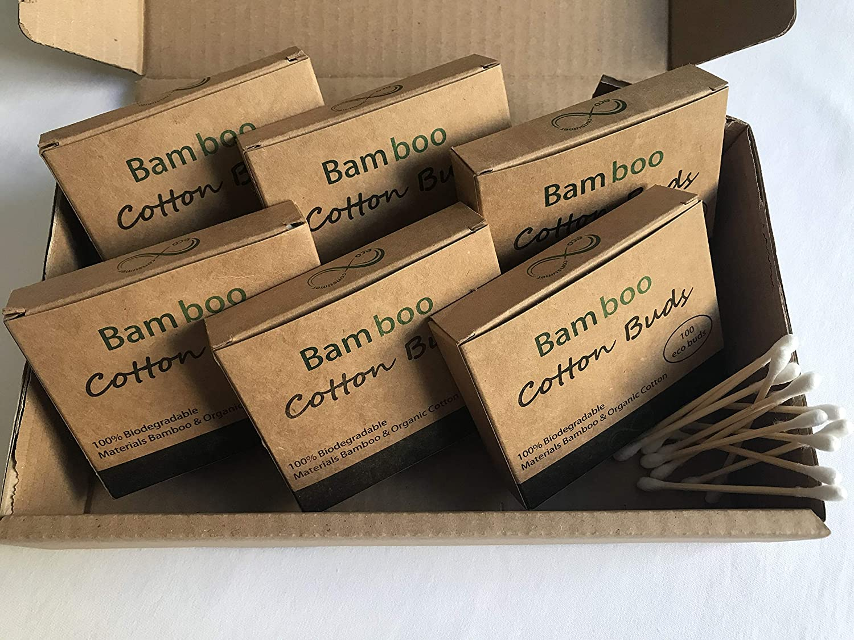 Capullos de algodón de bambú, embalaje libre de plástico, cero ...