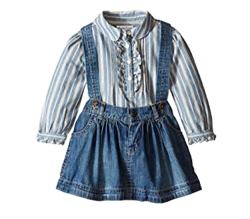 b74f63d7b0e1 Amazon.com  Ralph Lauren Polo Baby Girls Striped Shirt   Denim ...
