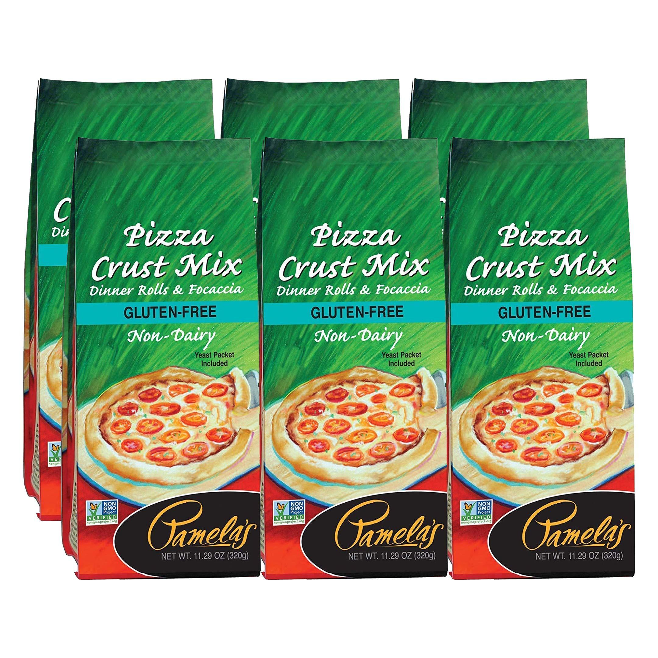 Pamelas Gluten Free Pizza Crust Mix, 11.29 OZ (Pack - 6) by Pamela's Products