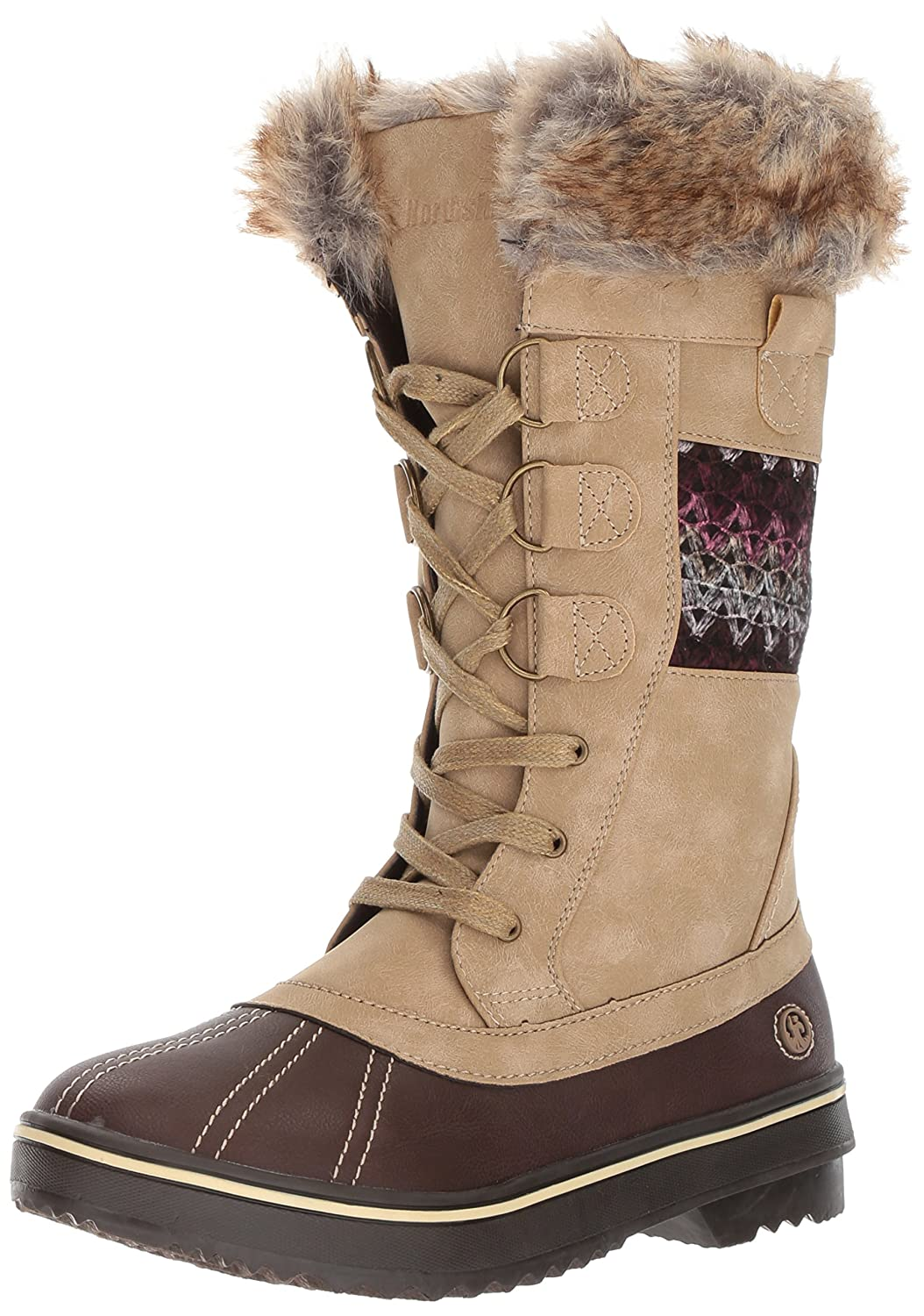 Northside Women's Bishop Snow Boot B01MUFTUF0 8 B(M) US|Tan/Berry