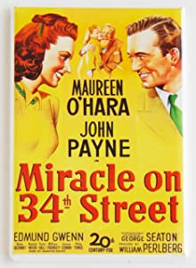 Miracle on 34th Street Movie Poster Fridge Magnet (2 x 3 inches)