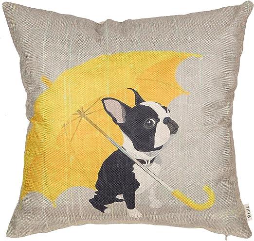 FRENCH BULL DOG Dog Breed Linen Cushion Cover Home Decor Gift BOSTON TERRIER