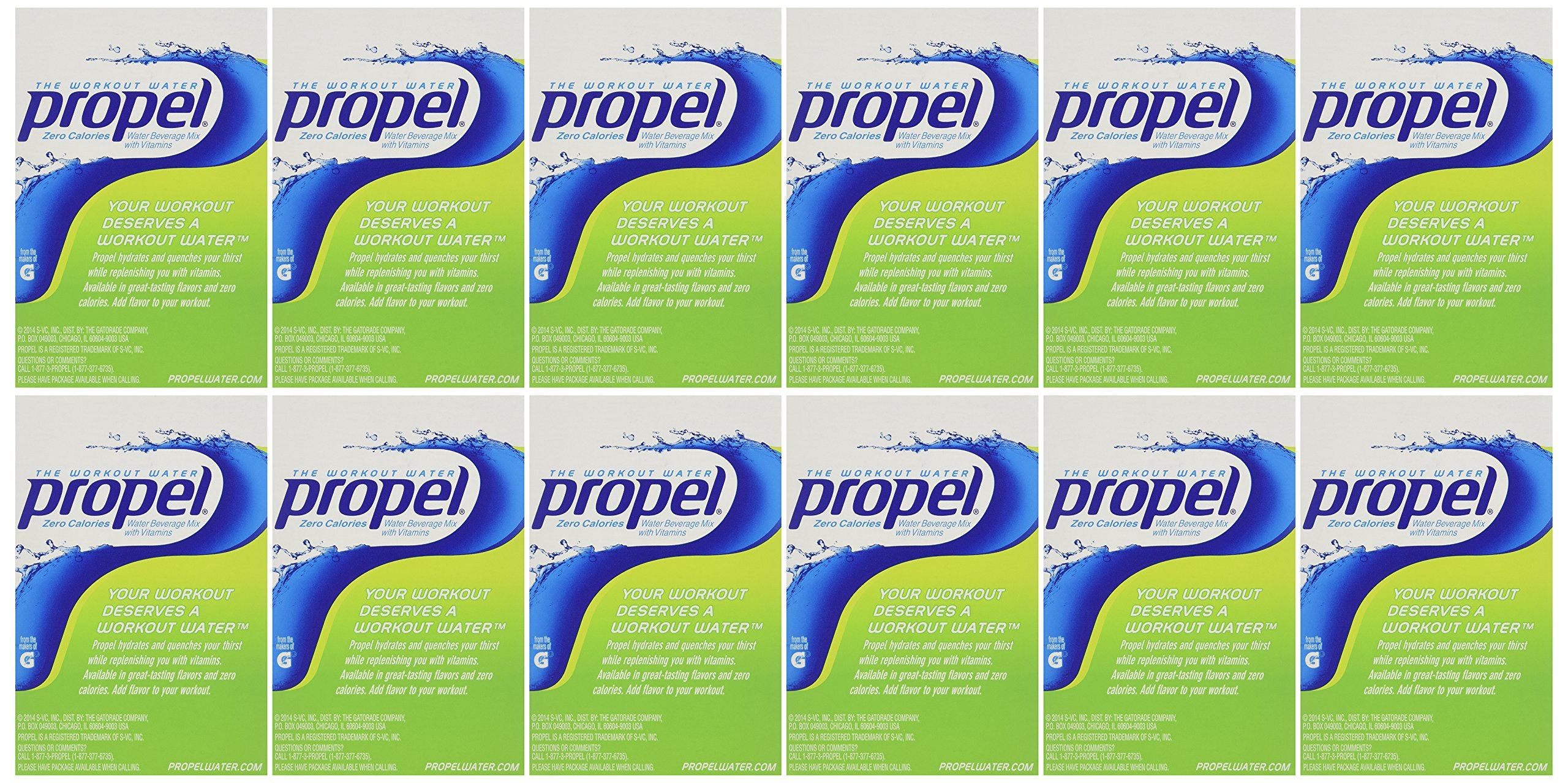 Propel Zero Kiwi-Strawberry - 10 Packets (Pack of 12)
