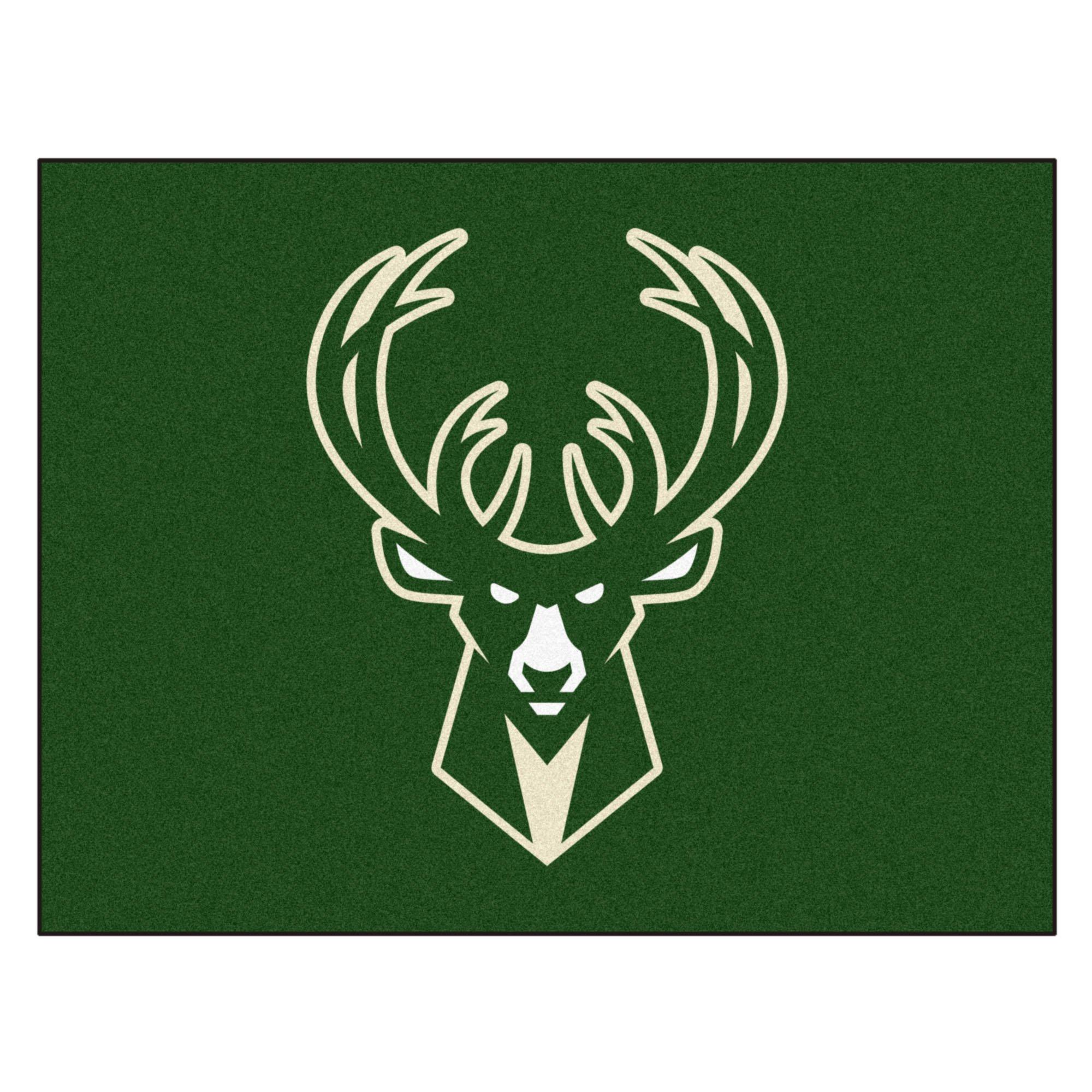Fanmats 19453 33.75''x42.5'' Team Color NBA - Milwaukee Bucks All-Star Mat
