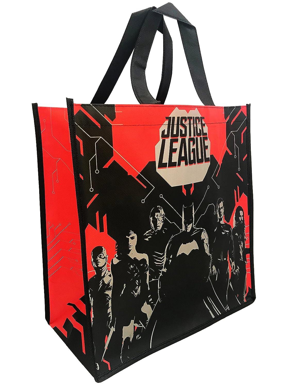 割引発見 DC Comics Justice B077SP53NT League Comics Justice BatmanレッドブラックSillouette withロゴトートバッグGroceryショッピングバッグ B077SP53NT, FLiC -フリック- ワイシャツ専門店:2d7312dc --- arianechie.dominiotemporario.com