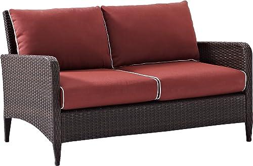 Crosley Furniture Kiawah Outdoor Wicker Loveseat