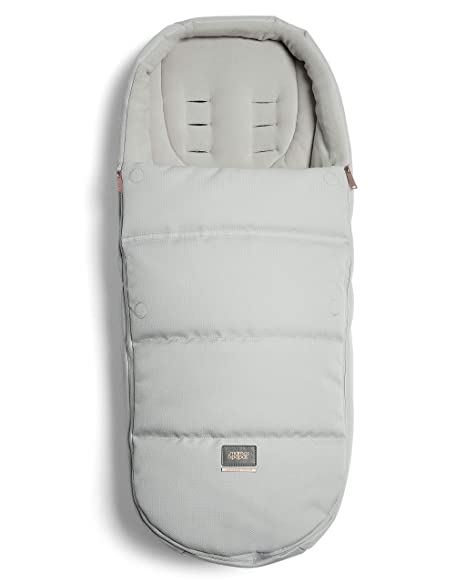 Mamas & Papas - Saco de dormir para clima frío, color gris y champán