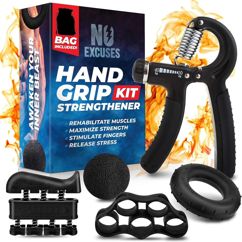 Fitness Heavy Grip Wrist Rehabilitation Developer Hand Grip Muscle Strength Kit