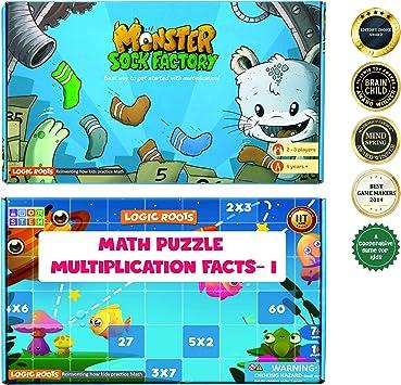 Logic Roots Juego de multiplicación y Mesa de multiplicación 2-6 Rompecabezas matemáticos para niños (72 Piezas) Combo niños y niñas – Mejor para 7, 8, 9 y 10 años de Edad: Amazon.es: Juguetes y juegos