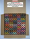 Jay Shubham Threads Polyester Sewing Thread 100 Tubes (50 Shades Each 2 in no) Set no 2