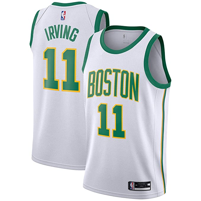 Outerstuff Kyrie Irving Boston Celtics #11 White Gold Youth Alternate Swingman Jersey
