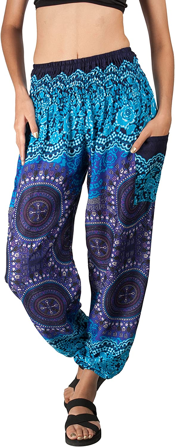 Joop Joop Bohemian Tapered Elephant Harem Loose Yoga Travel Lounge Pants