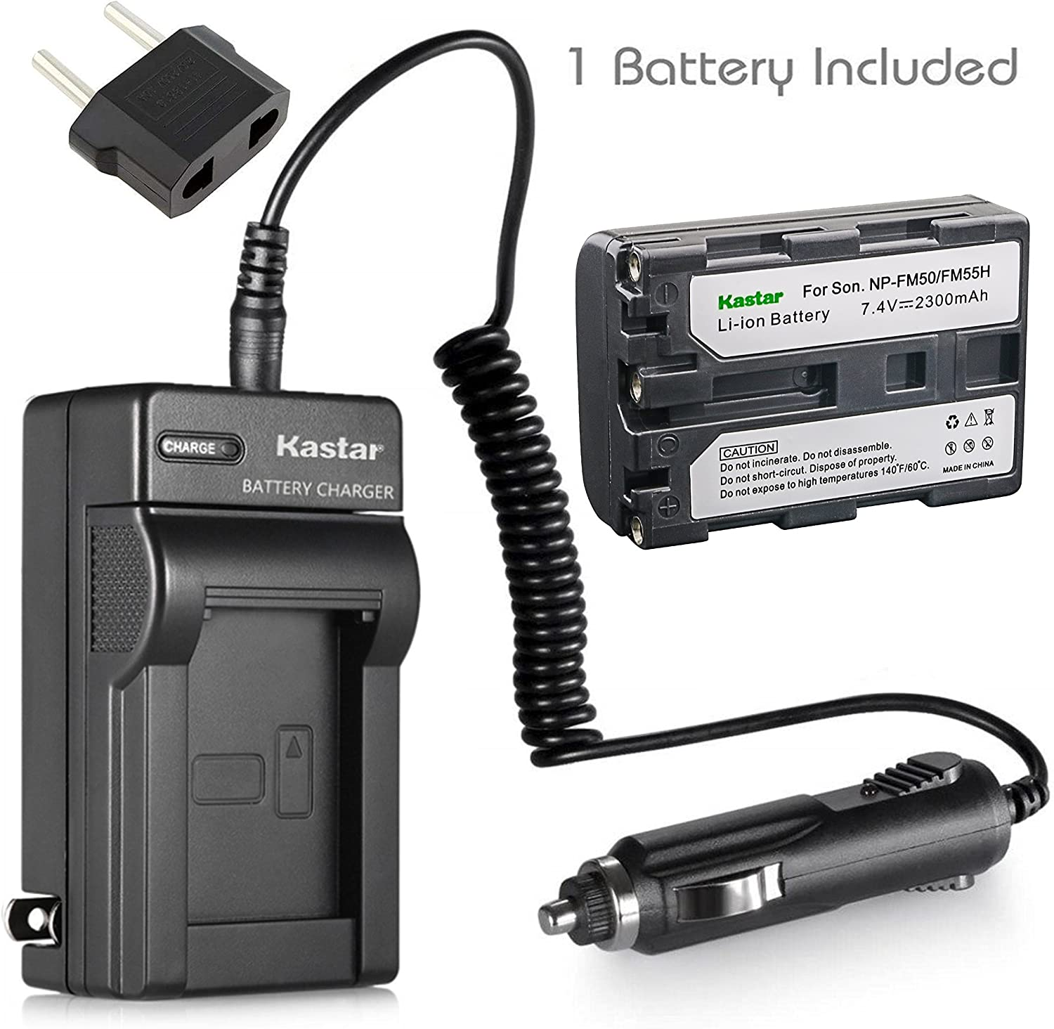 Battery and Charger Sony CCD-TRV408, CCD-TRV608 Hi8, CCD-TRV118 Handycam Camcorder