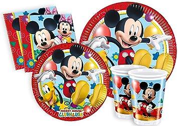 Ciao y2495 – Kit Party Fiesta de tabla Mickey Mouse Club House Para 24  Personas ( 034d19b86fe