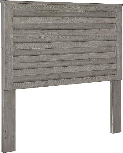 Pulaski Horizontal Slat Overlay Wood Headboard