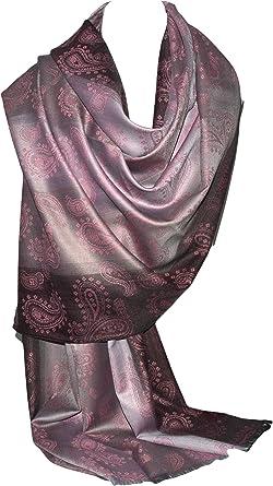 GFM Diseño Paisley de la flor Bufanda estilo Pashmina (PAISLEY-BC84104)(S10 - Dusky Pink)