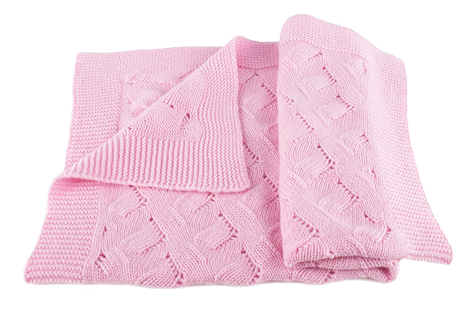 Girls Luxury 100% Cashmere Baby Blanket - 'Baby Pink' - hand made in Scotland by Love Cashmere - RRP $300 by Love Cashmere   B00TU2Y3W0