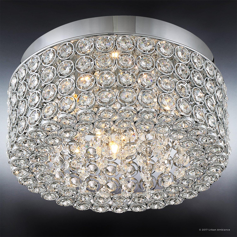Amazon.com: Lámpara de techo de cristal de lujo, tamaño ...