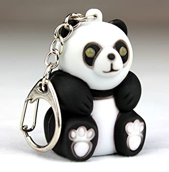 PK Green LED Light Up Panda Keyring with Sound - Animal Keychain Torch d031993fc