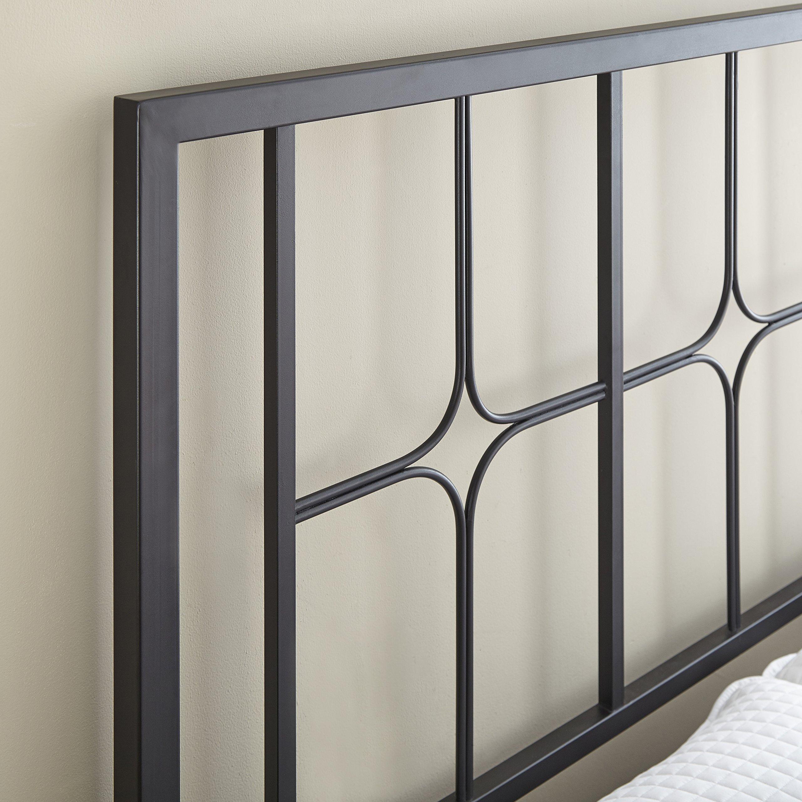 Flex Form Lydia Metal Platform Bed Frame / Mattress Foundation with Headboard and Footboard, King by Flex Form (Image #3)