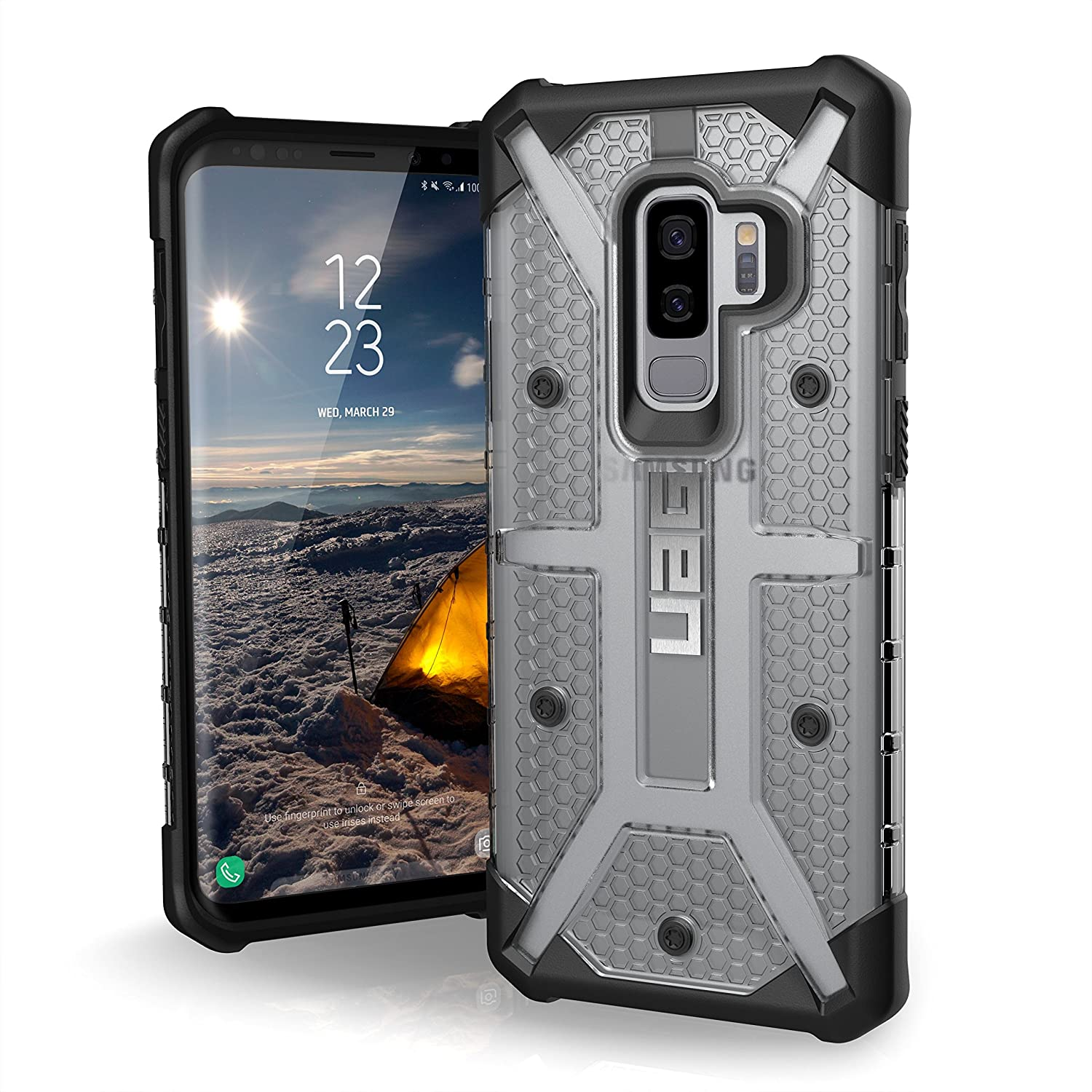 new product 6c1ae fbce5 URBAN ARMOR GEAR [UAG] Samsung Galaxy S9 Plus [6.2-inch Screen] Plasma  Feather-Light Rugged [Ice] Military Drop Tested Phone Case