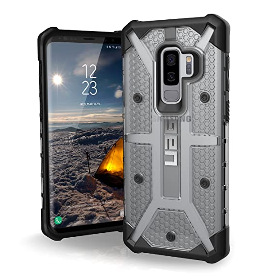 new product 2f672 4e1fd URBAN ARMOR GEAR [UAG] Samsung Galaxy S9 Plus [6.2-inch Screen] Plasma  Feather-Light Rugged [Ice] Military Drop Tested Phone Case