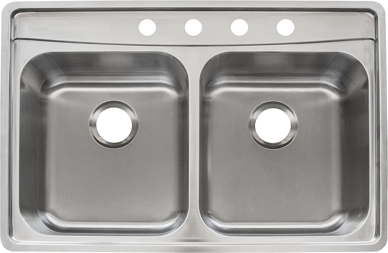 Franke EVDCG801-18 Sink, 8-Inch, Stainless Steel
