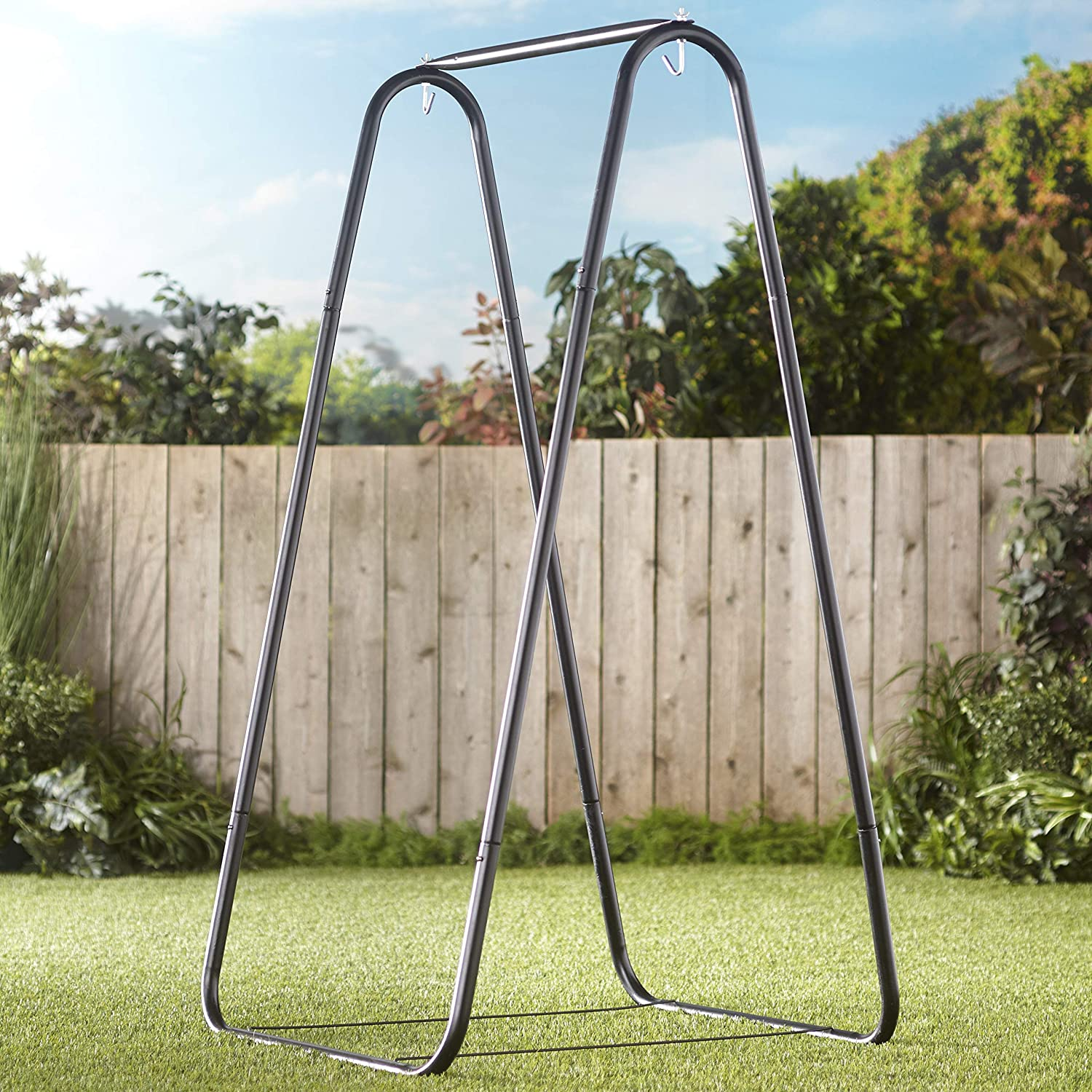 Amazon Com The Lakeside Collection Metal Hammock A Frame Chair Stand Swinging Seat Replacement Frame Garden Outdoor