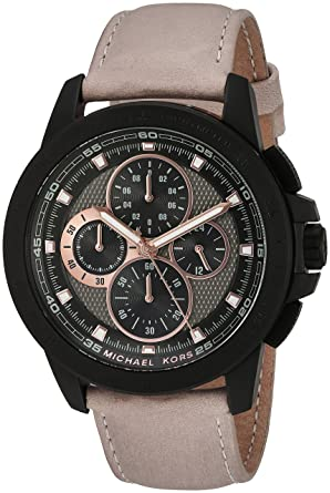b8f3ddbb18ba Image Unavailable. Image not available for. Color  Michael Kors Men s Ryker Black  Watch MK8520
