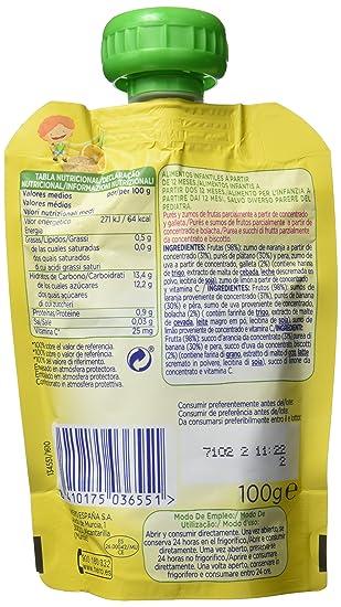 Hero - Bolsita De Fruta 100 g Naranja, Plátano Y Galleta - [pack de 9]: Amazon.es: Alimentación y bebidas