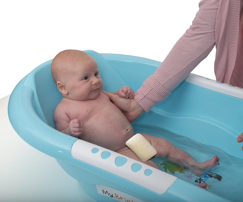 Bañera para bebé, hecha de material respetuoso con el medio ambiente, sin BPA y con soporte para espalda cómodo: Amazon.es: Bebé