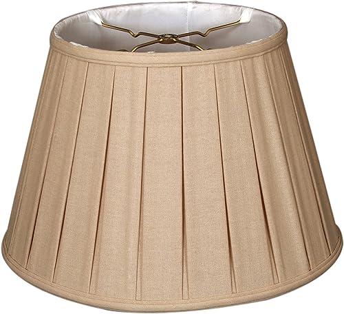 Royal Designs Round Empire English Pleated Basic Lamp Shade, Linen Beige, 10 x 14.5 x 10 DBS-724-14LNBG