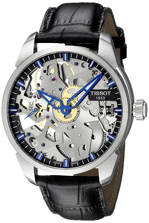 Tissot Men's Squelette Mechanical, Swiss Made Watch, Skeleton Watches, Silver Watch, Functional Watch