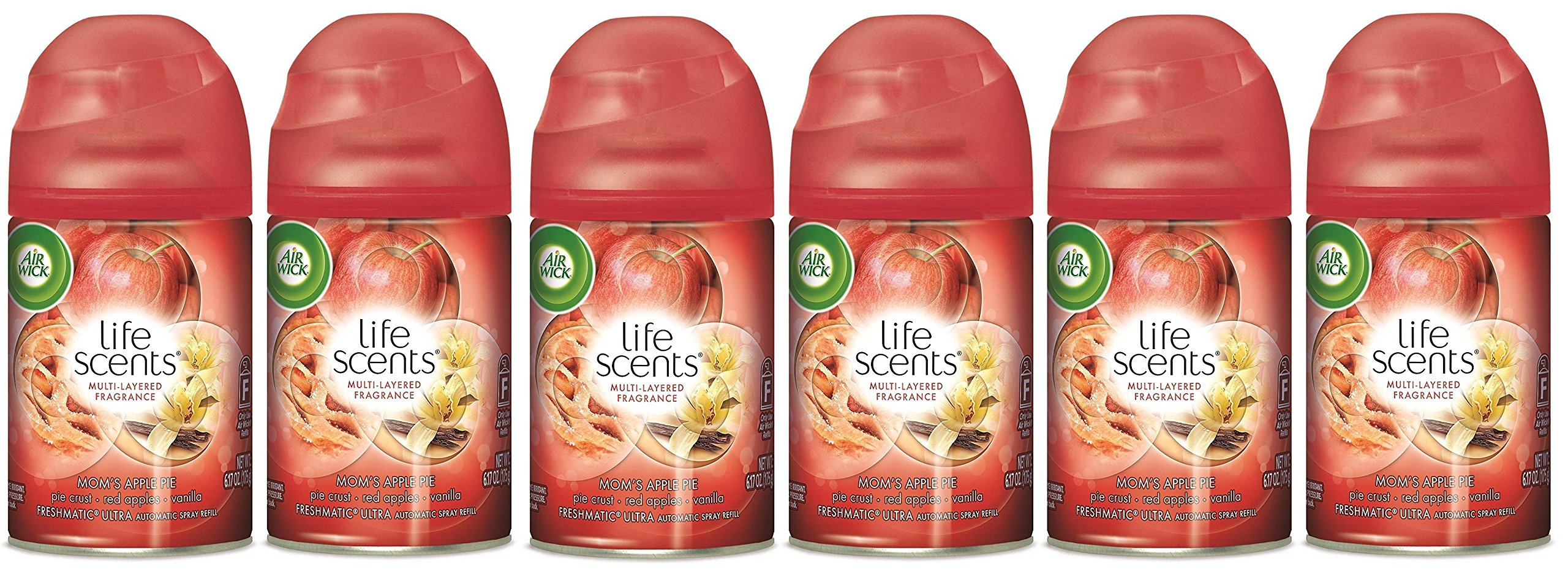 Air Wick Freshmatic Automatic Spray Refill Air Freshener NKEvGS, 2 Refills, 12.34oz, 3 Pack (Moms Apple Pie) by Air Wick