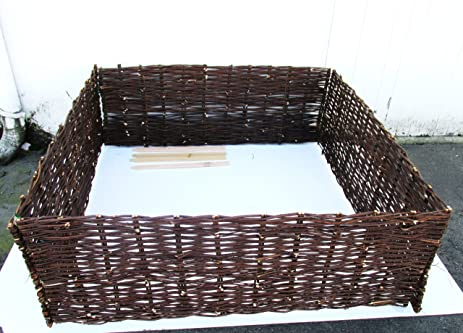 Master Garden Products Deep Woven Willow Raised Bed, 48 X 48 X 18 Inch