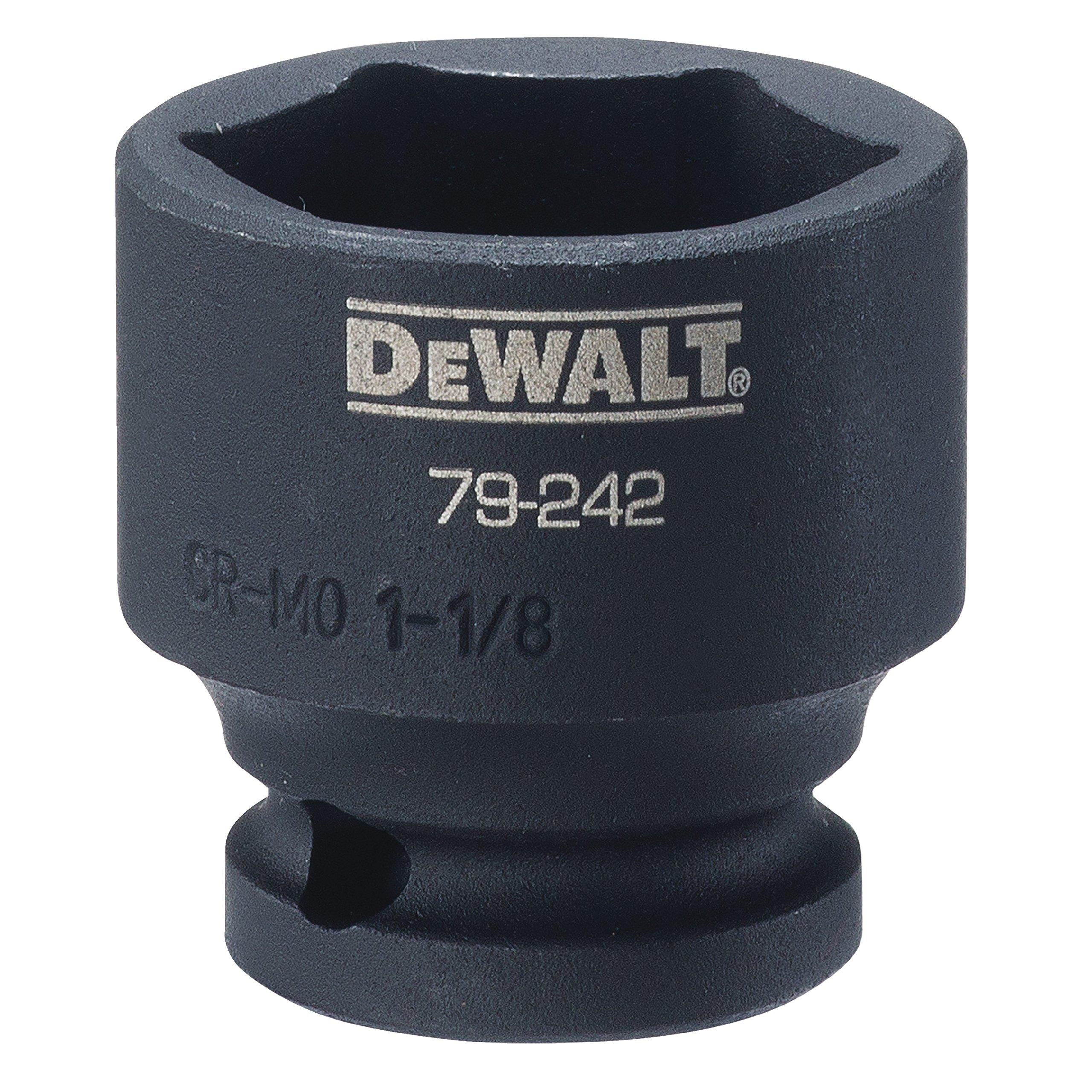 DEWALT 6 PT 1/2'' Drive Impact Socket 1-1/8IN SAE