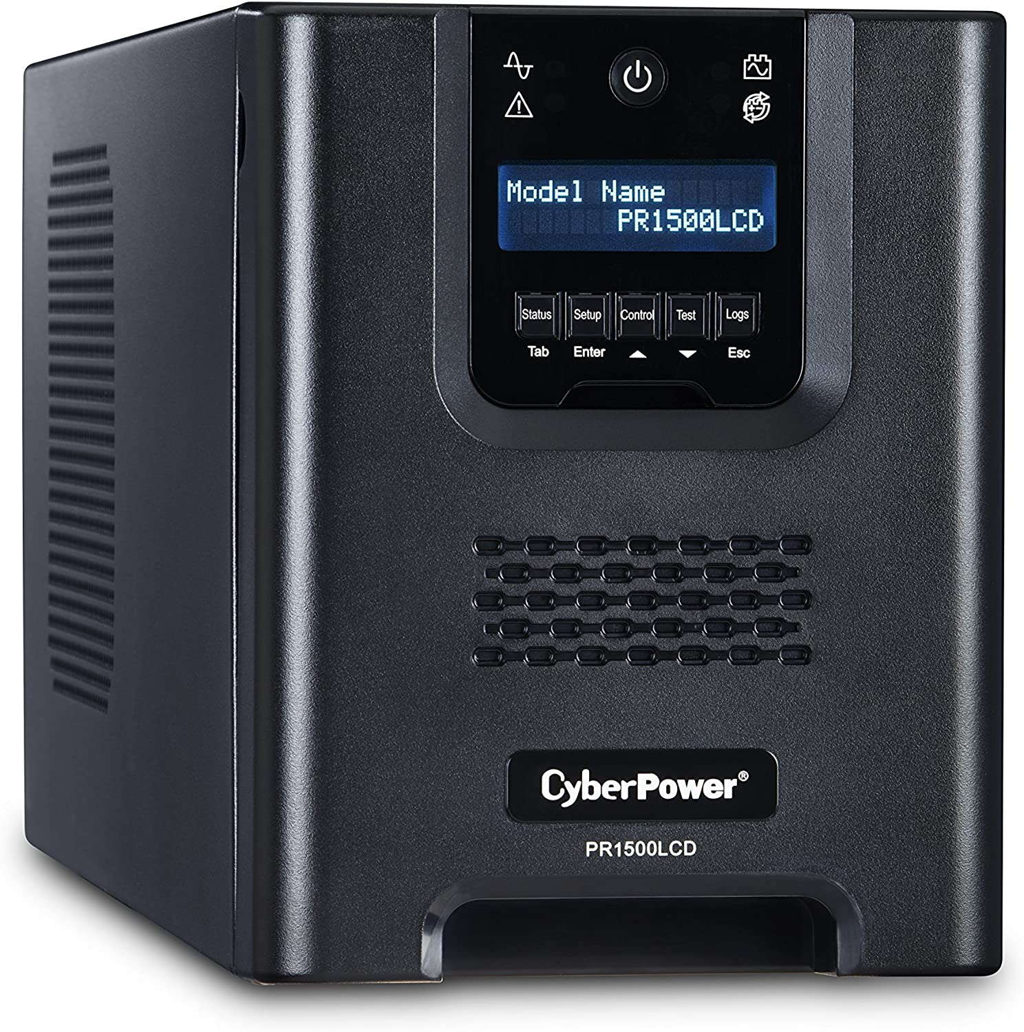 CyberPower PR1500LCD Smart App Sinewave UPS System, 1500VA/1500W, 8 Outlets, AVR, Mini-Tower