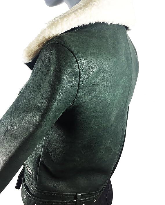Zara chaqueta de efecto cuero de la mujer 3046/239: Amazon ...