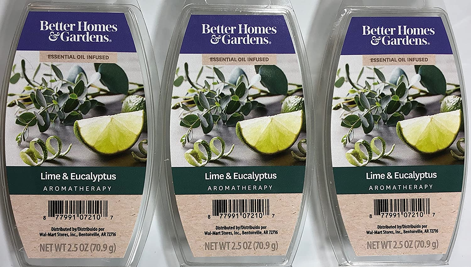 Better Homes and Gardens Lime & Eucalyptus Essential Oil Infused Wax Cubes - 3-Pack