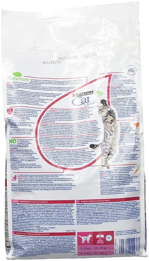 Purina Cat Chow Comida Seco para Gatos Adultos Cuidado Tracto Urinario Rico en Pollo - 1.5 Kg: Amazon.es: Productos para mascotas