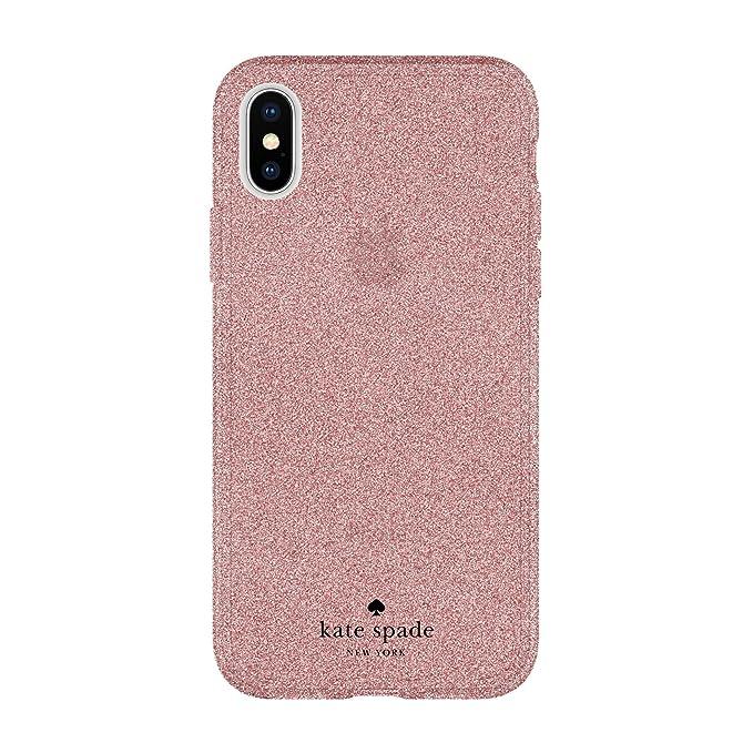 buy online 1d655 d14ba kate spade new york Flexible Glitter Case for iPhone X - Rose Gold Glitter