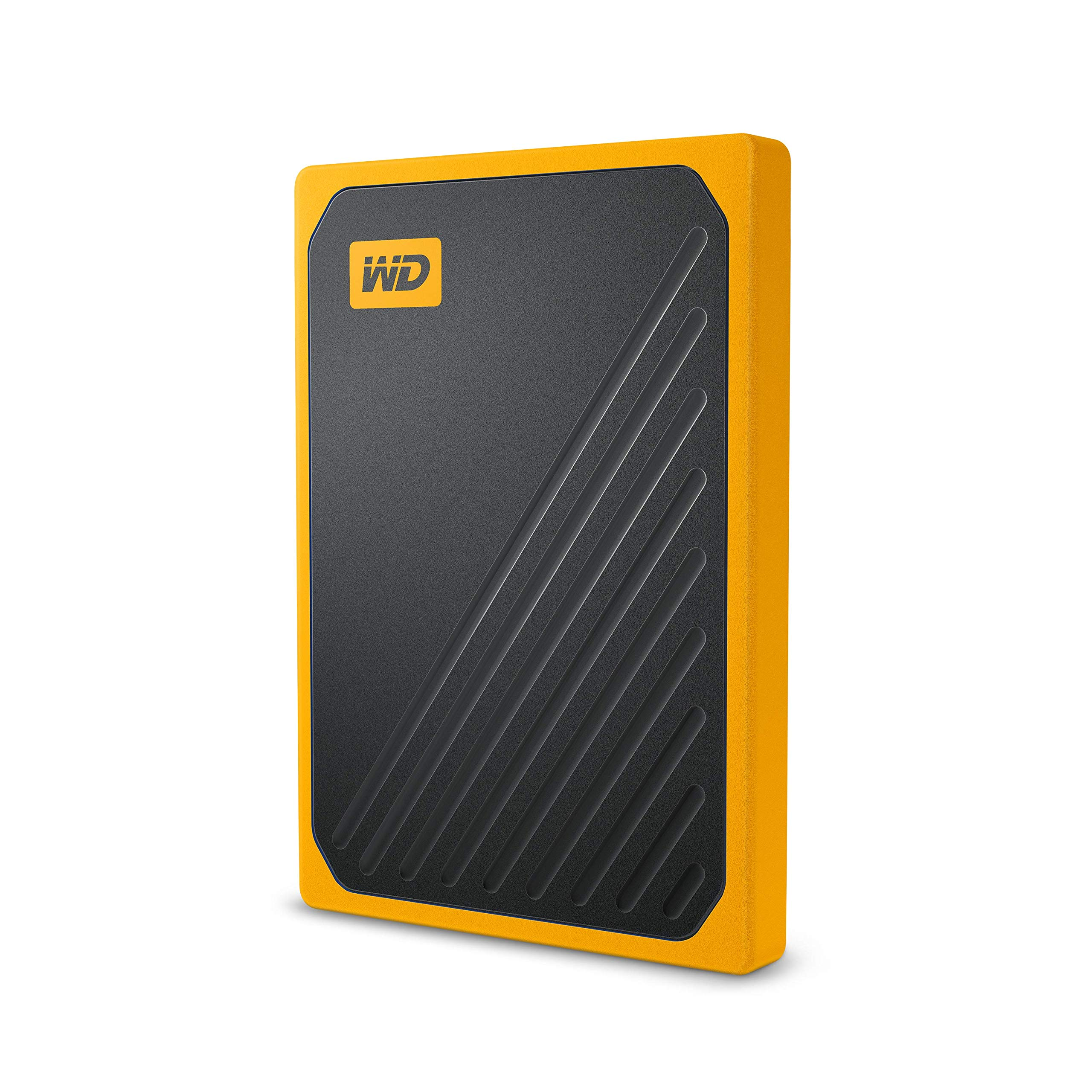 WD 1TB My Passport Go SSD Amber Portable External Storage, USB 3.0 - WDBMCG0010BYT-WESN